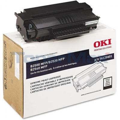 OKIDATA B2500 B2520 MFP TONER CART BLACK 4K